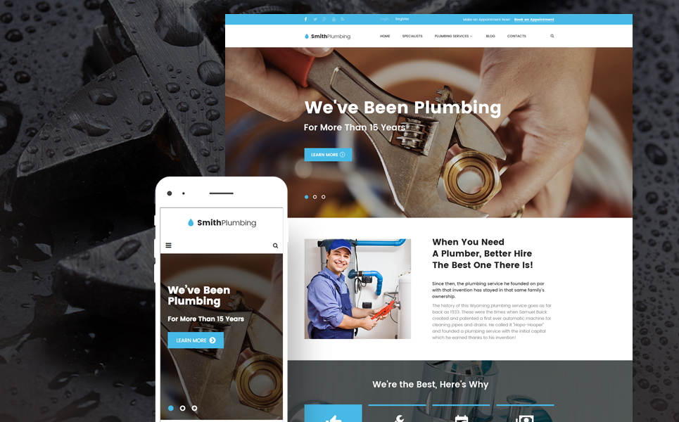 SmithPlumbing (WordPress theme plumbing companies) Item Picture