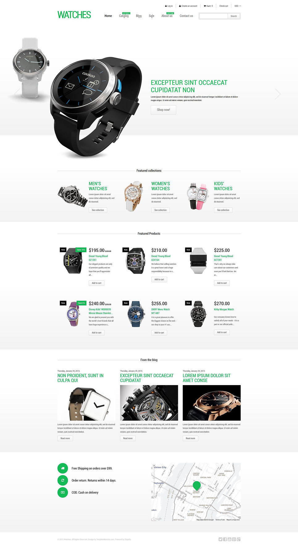 Stylish Watches Shopify Theme (jewelry and accessories Shopify theme) Item Picture