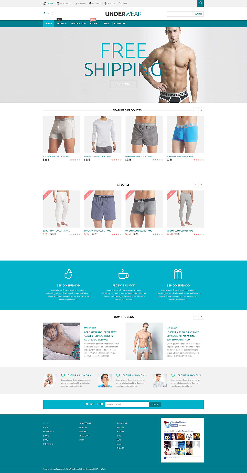 Underwear Store WooCommerce Theme