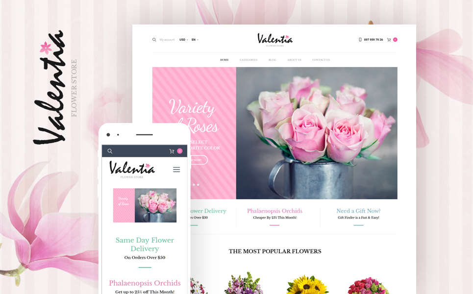 Valentia (template for WooCommerce) Item Picture