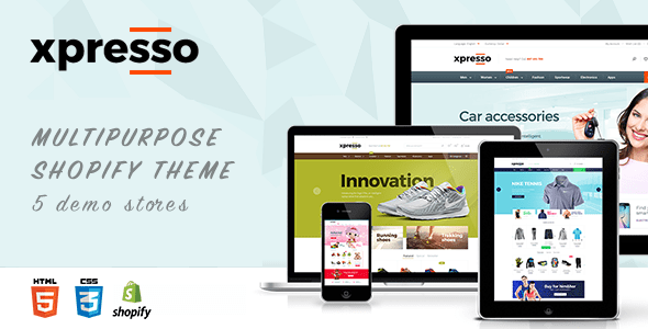 Xpresso Responsive Shopify Theme (jewelry and accessories Shopify theme) Item Picture