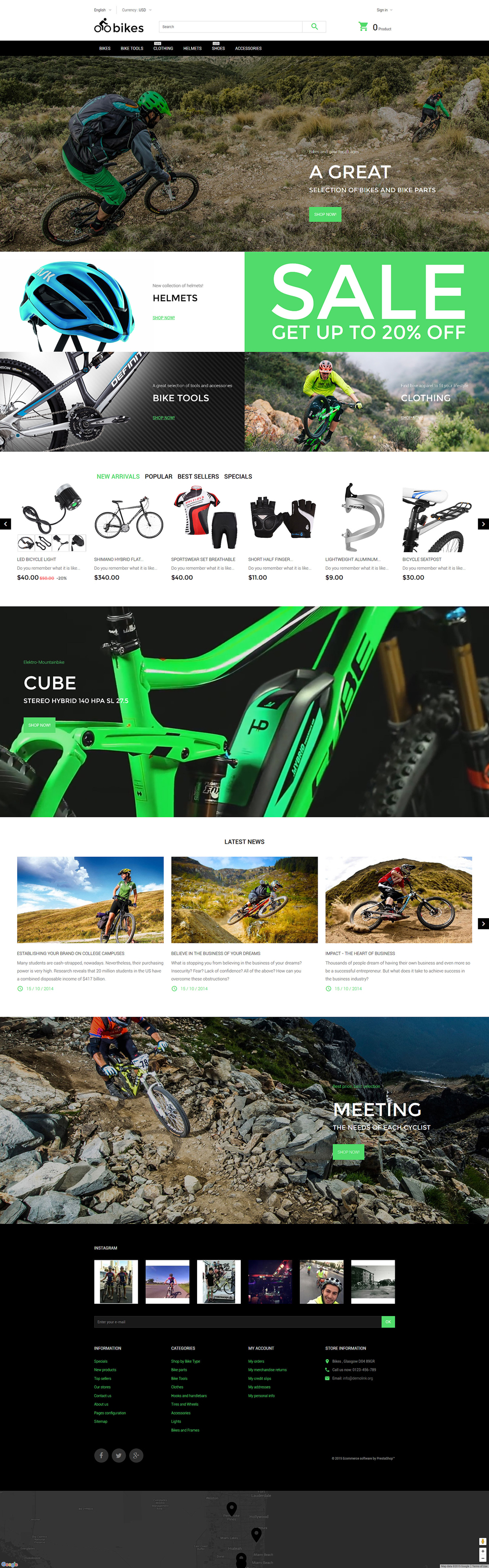 Bike Shop (ecommerce template for PrestaShop ) Item Picture