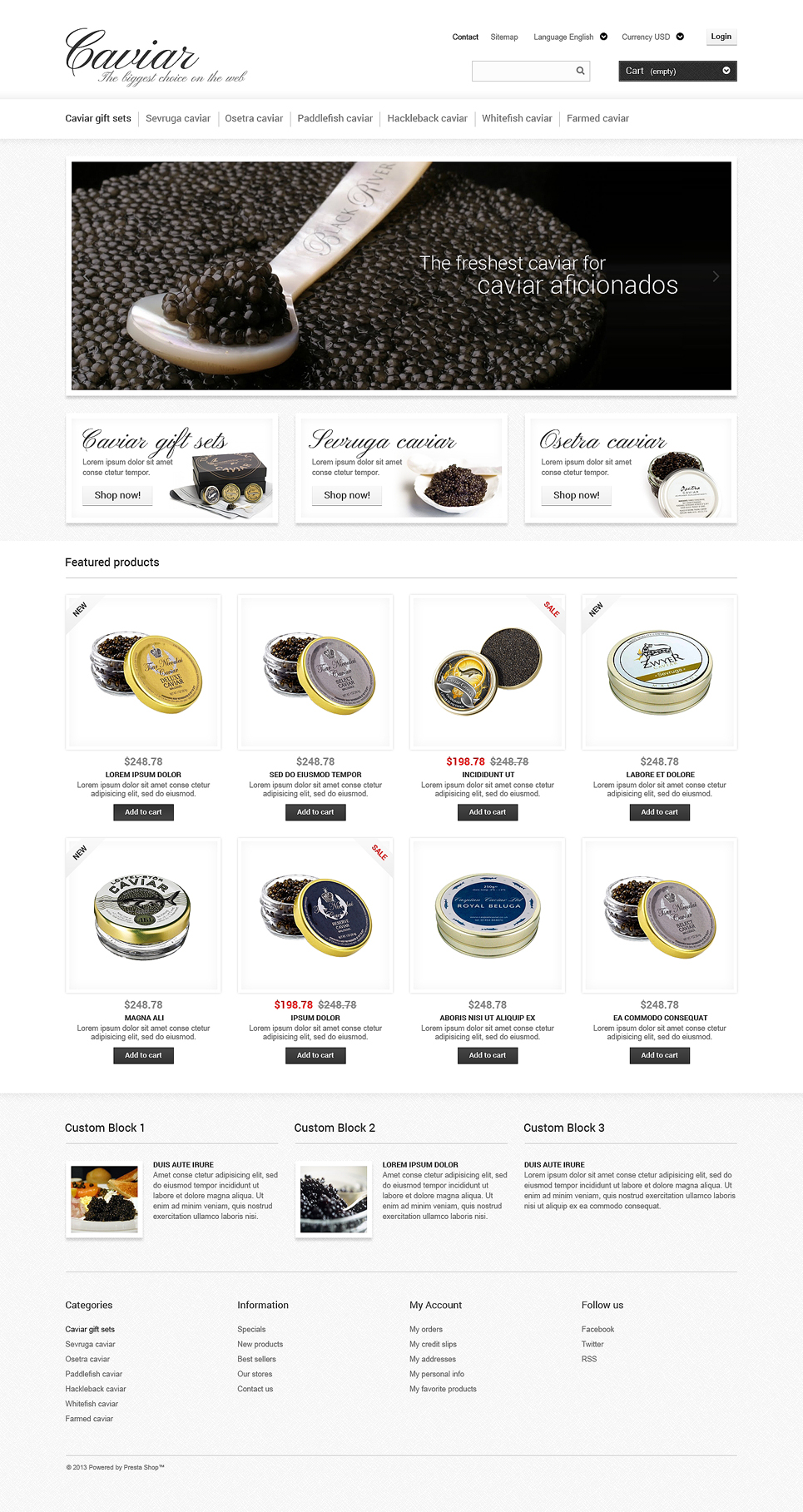 Caviar Online Store (ecommerce theme for PrestaShop) Item Picture