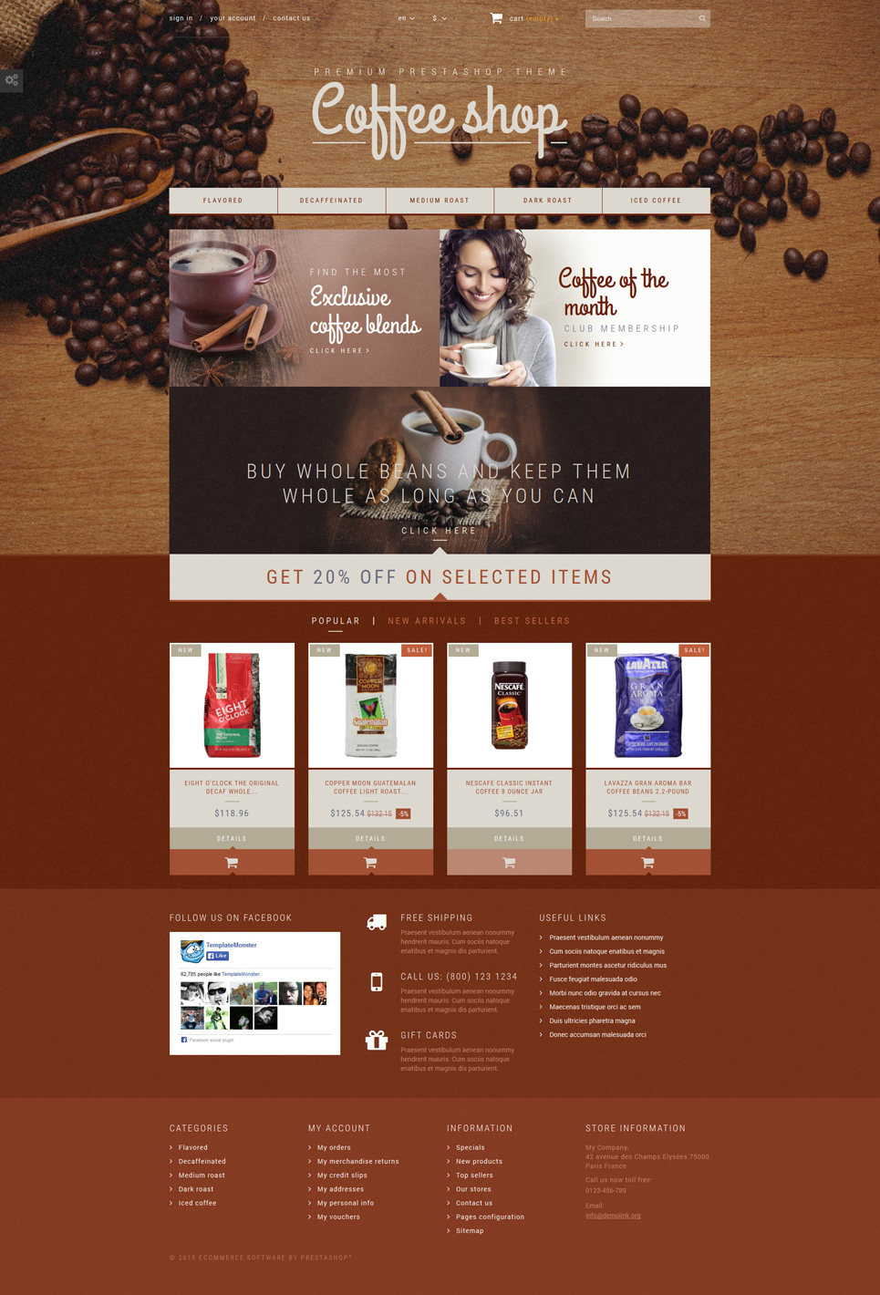 Coffee Aroma (template for PrestaShop) Item Picture