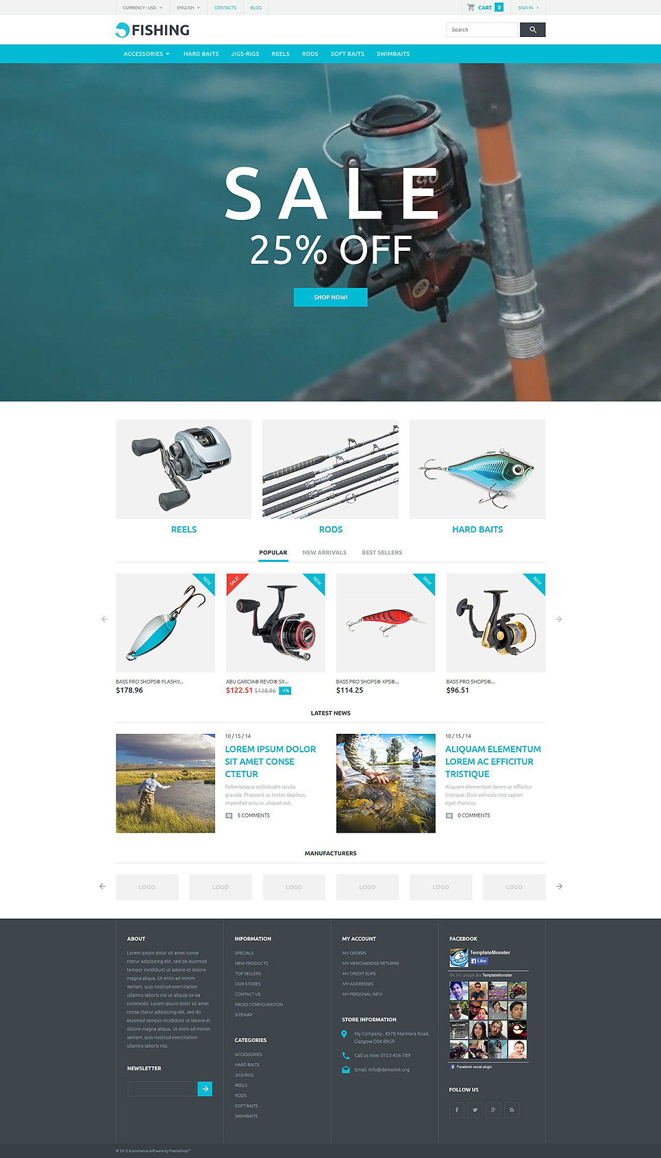 Here Today Prawn Tomorrow (ecommerce template for PrestaShop ) Item Picture