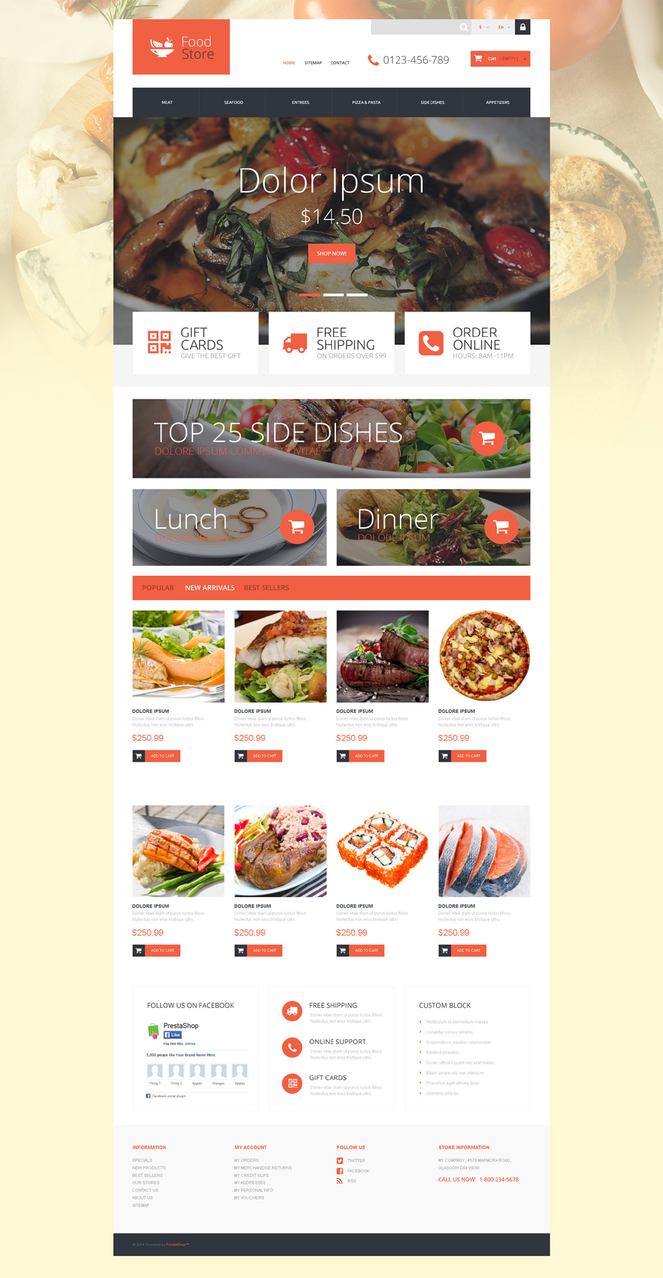 Foodie (ecommerce theme for PrestaShop) Item Picture