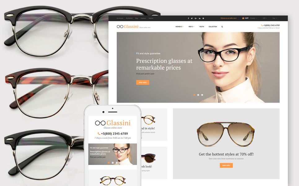 Glassini (theme for Magento ) Item Picture
