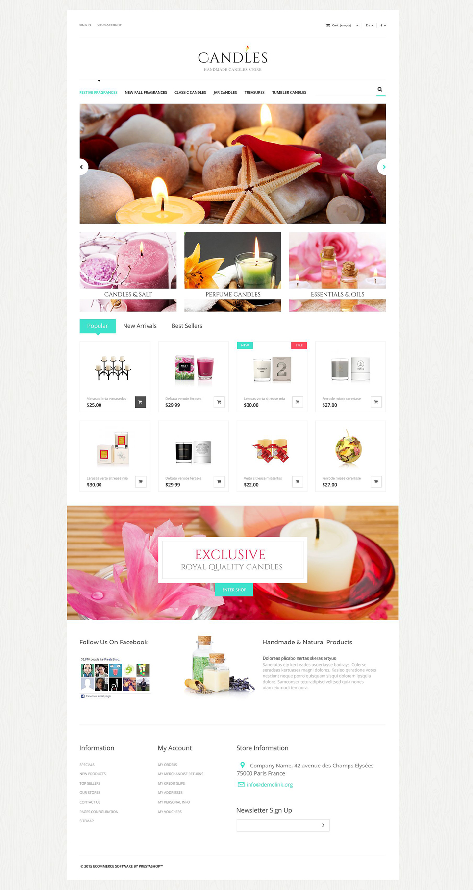 Handmade Candles Store