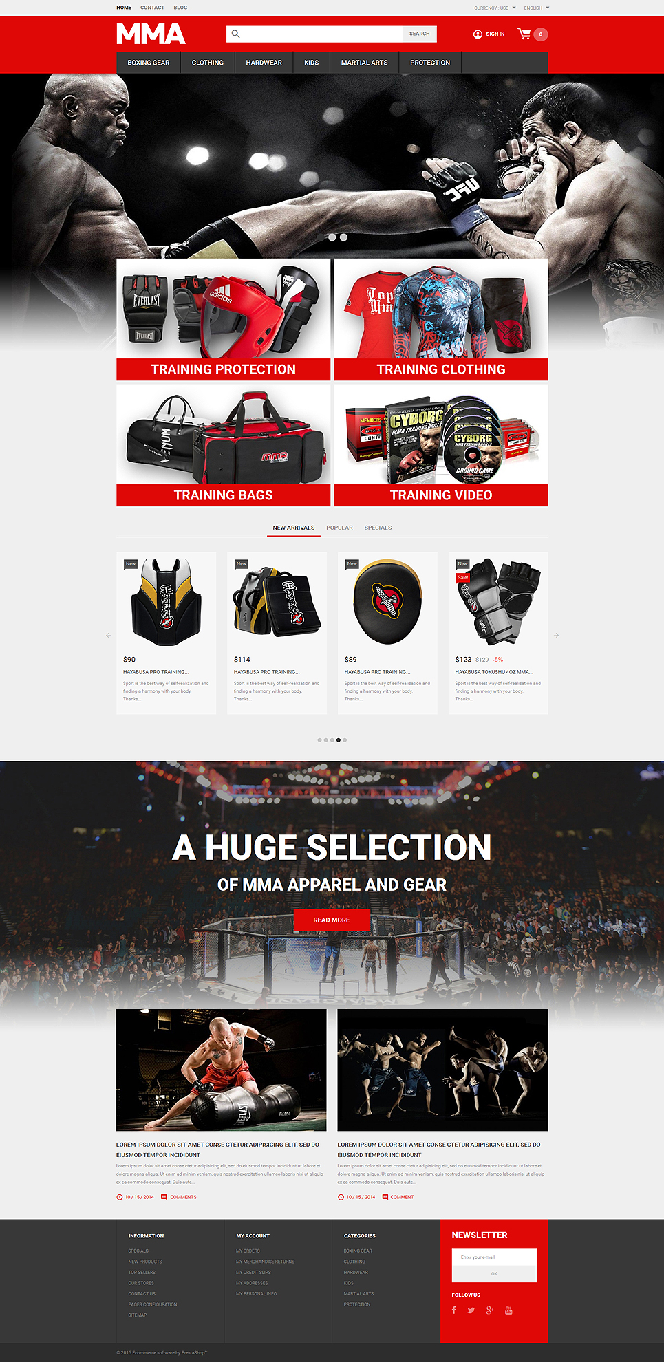 MMA Outfit Store (theme for PrestaShop) Item Picture