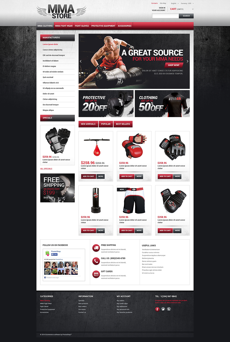 MMA Store (theme for PrestaShop) Item Picture