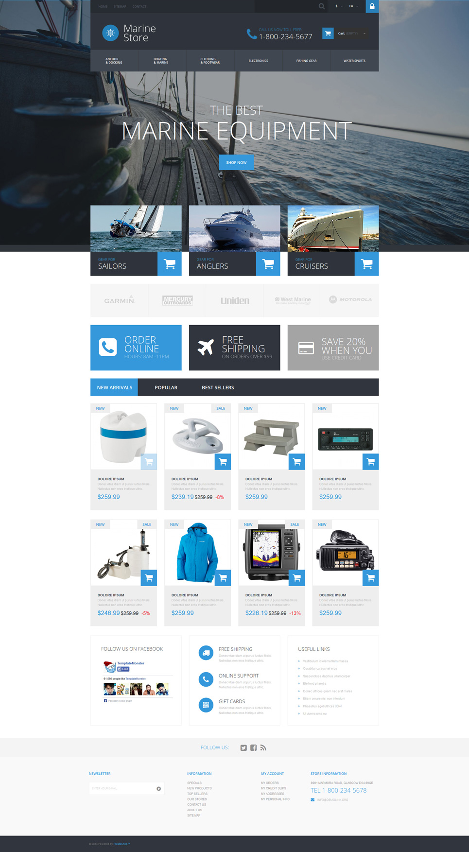 Marine Store (PrestaShop template) Item Picture