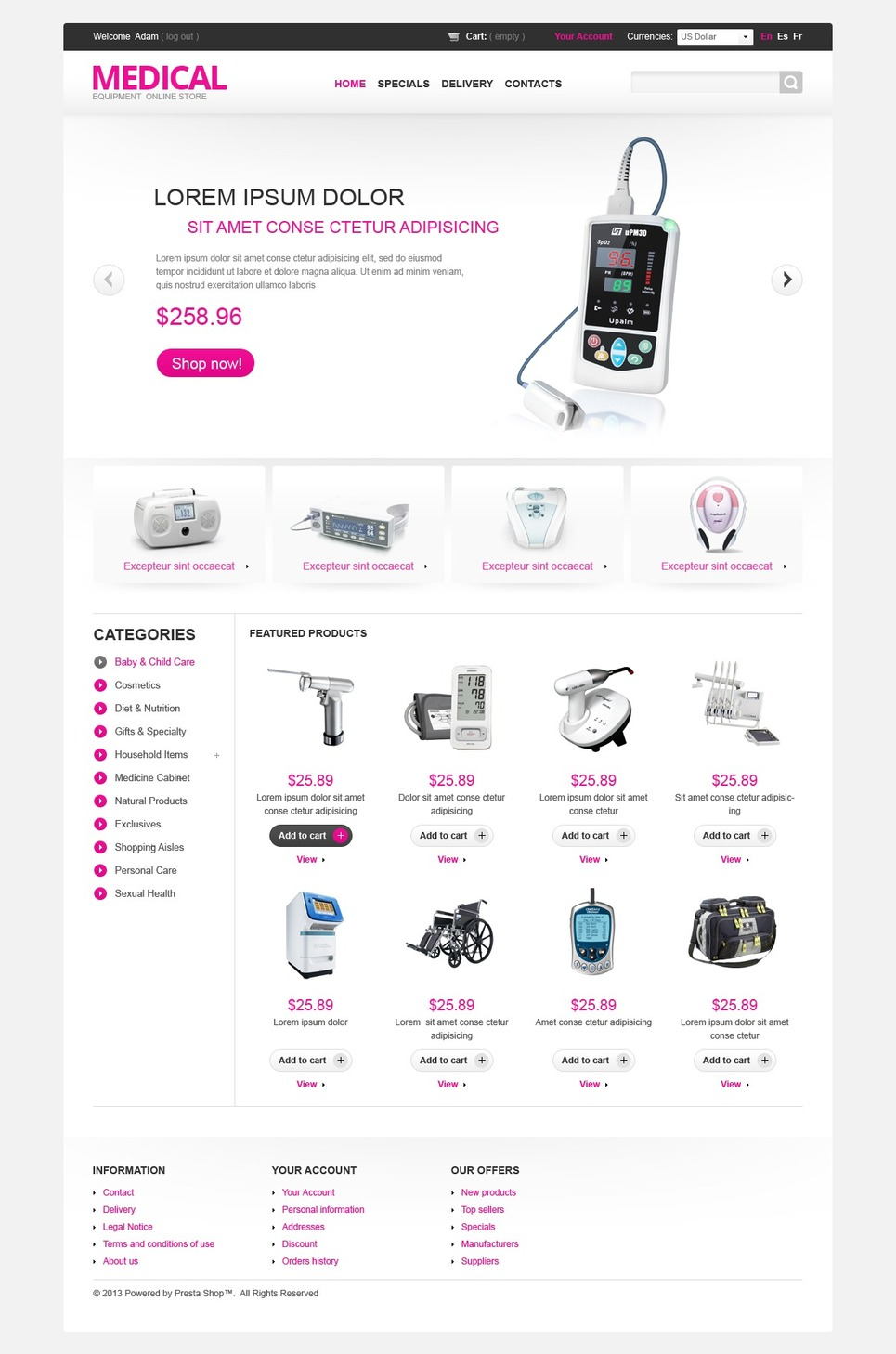 Medical Equipment Shop