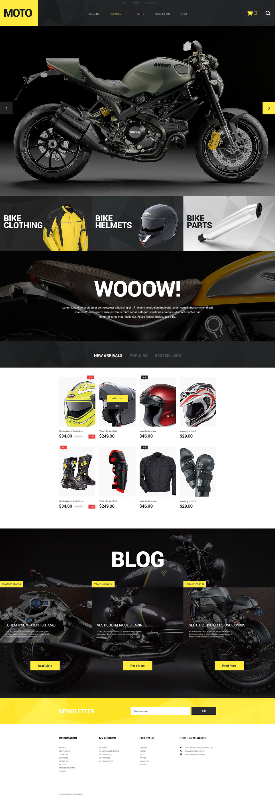 Motorcycle Store (ecommerce template for PrestaShop ) Item Picture