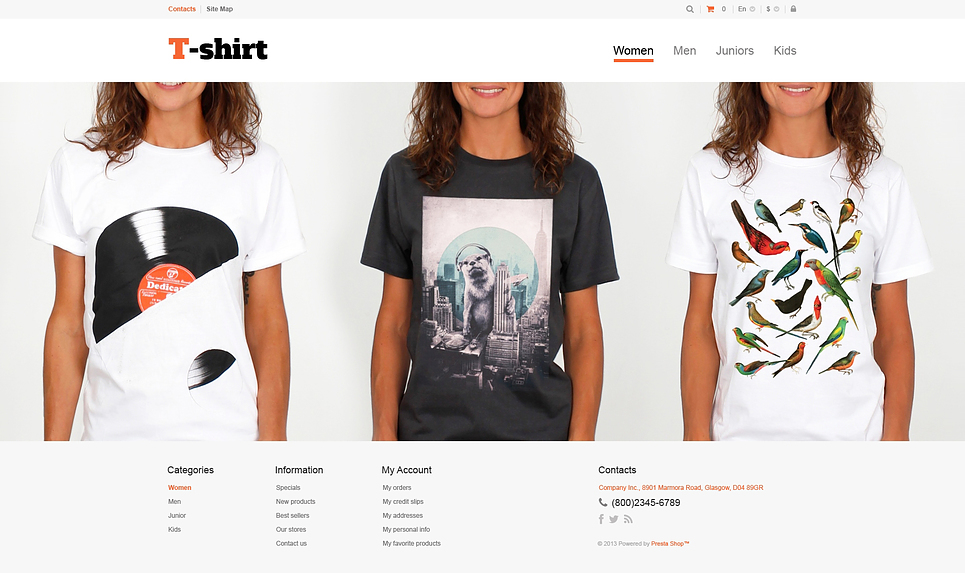 Multi-Purpose TShirt Shop (theme for PrestaShop) Item Picture