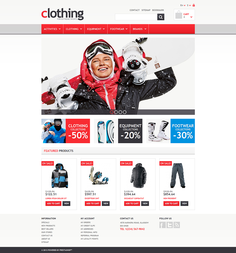 Responsive Clothing Store (theme for PrestaShop) Item Picture