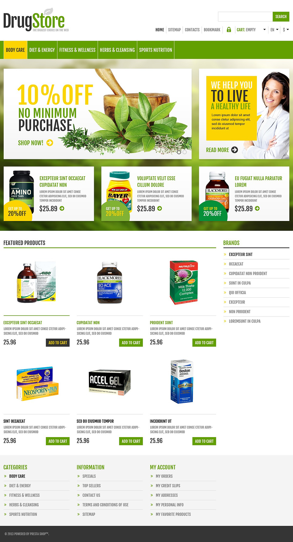 Responsive Drug Store (template for PrestaShop) Item Picture