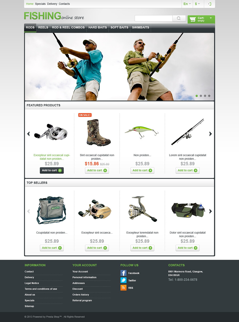 In Cod We Trust (ecommerce template for PrestaShop ) Item Picture