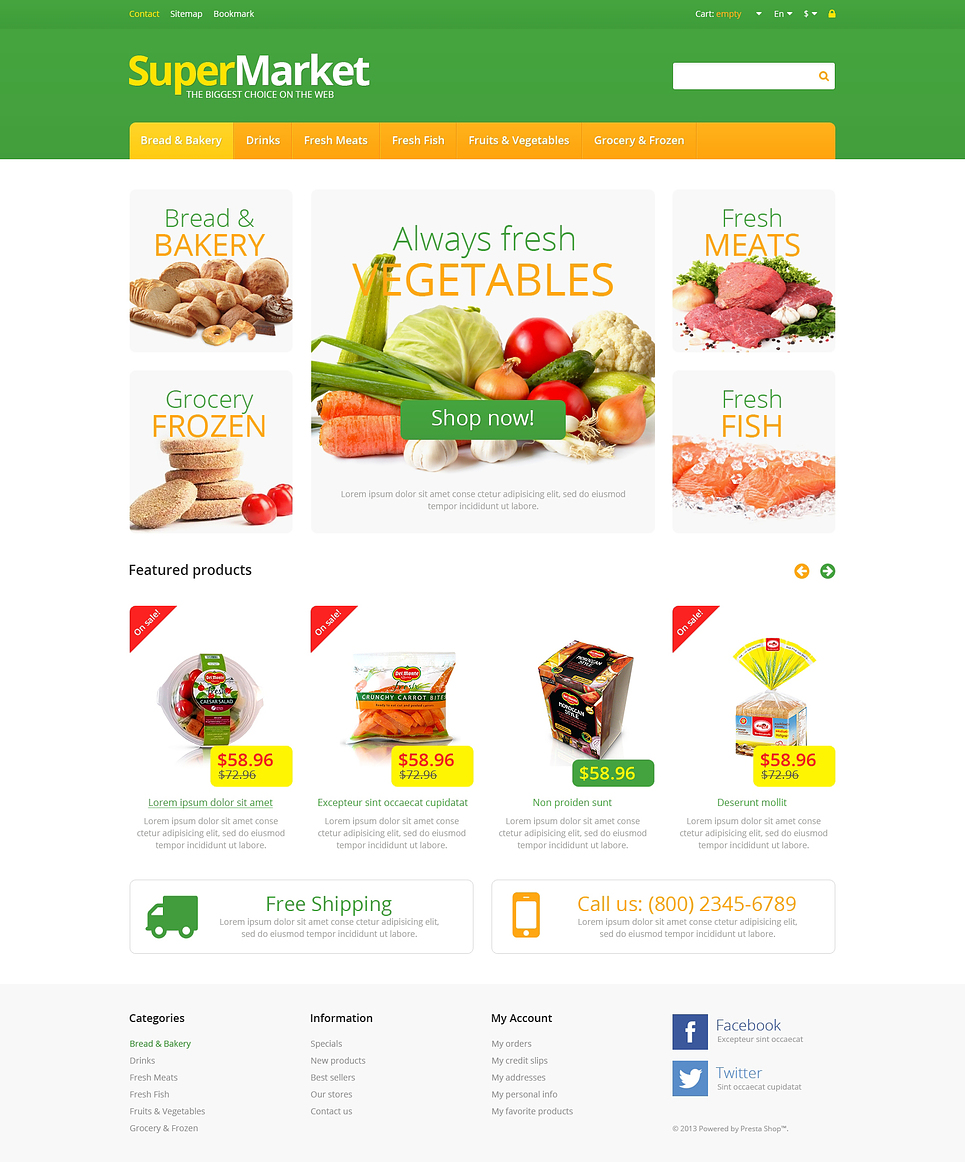Responsive Supermarket (ecommerce theme for PrestaShop) Item Picture