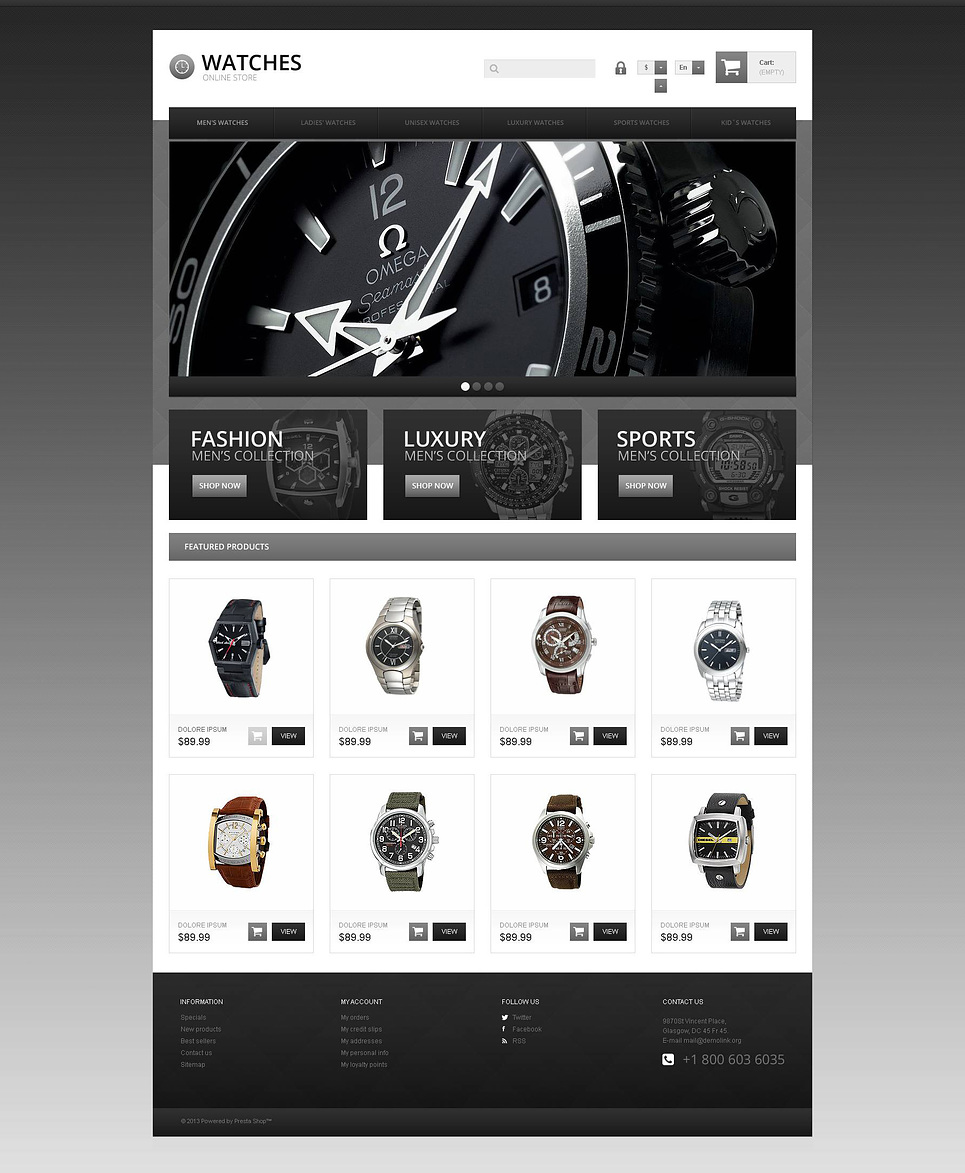 Responsive Watch Store