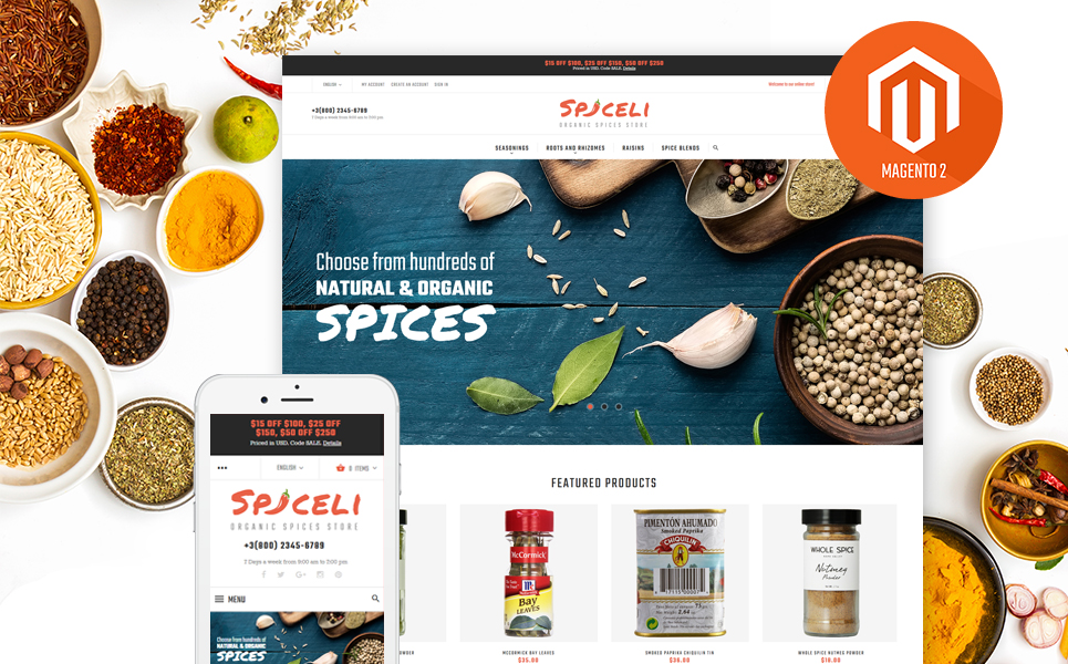 Spiceli (theme for Magento ) Item Picture