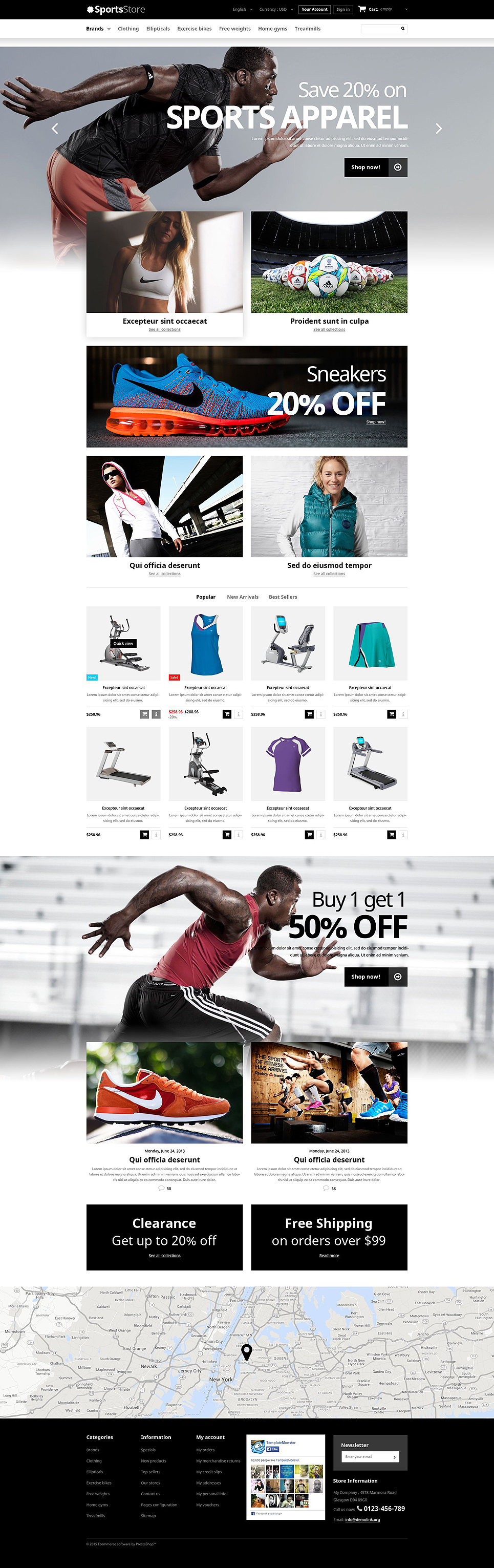 Sports Clothes Equipment Shop (theme for PrestaShop) Item Picture