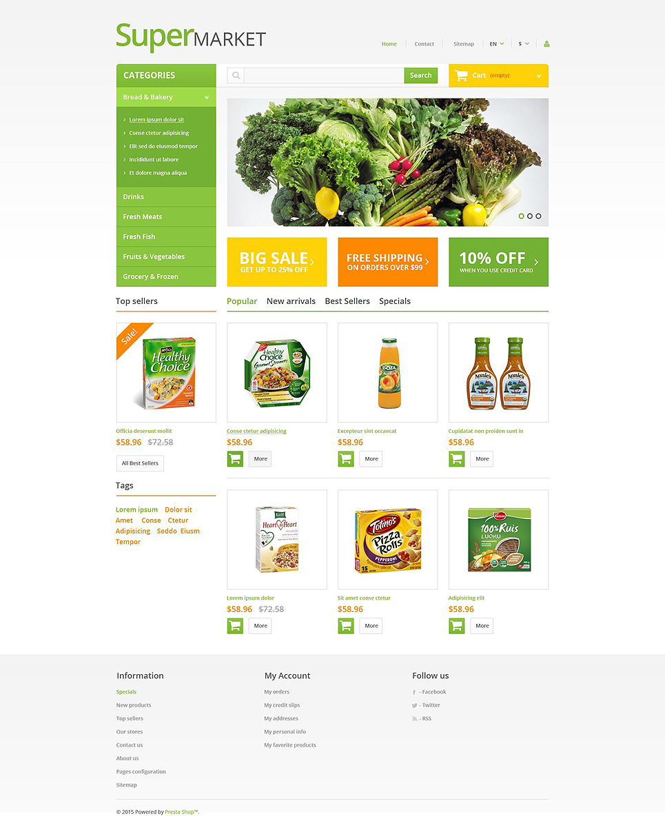 Supermarket (ecommerce theme for PrestaShop) Item Picture
