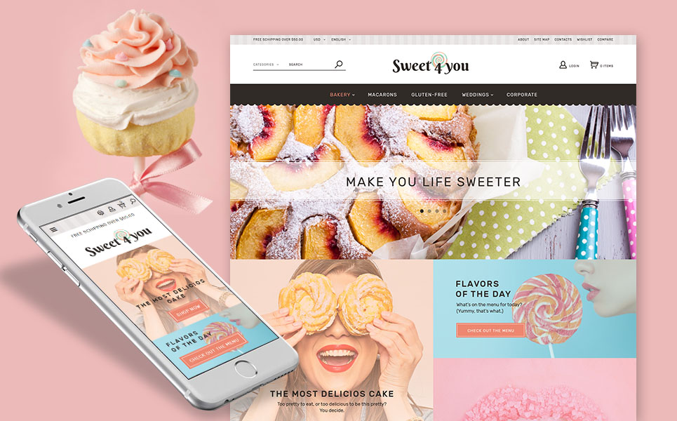 Sweet4you (ecommerce PrestaShop template) Item Picture