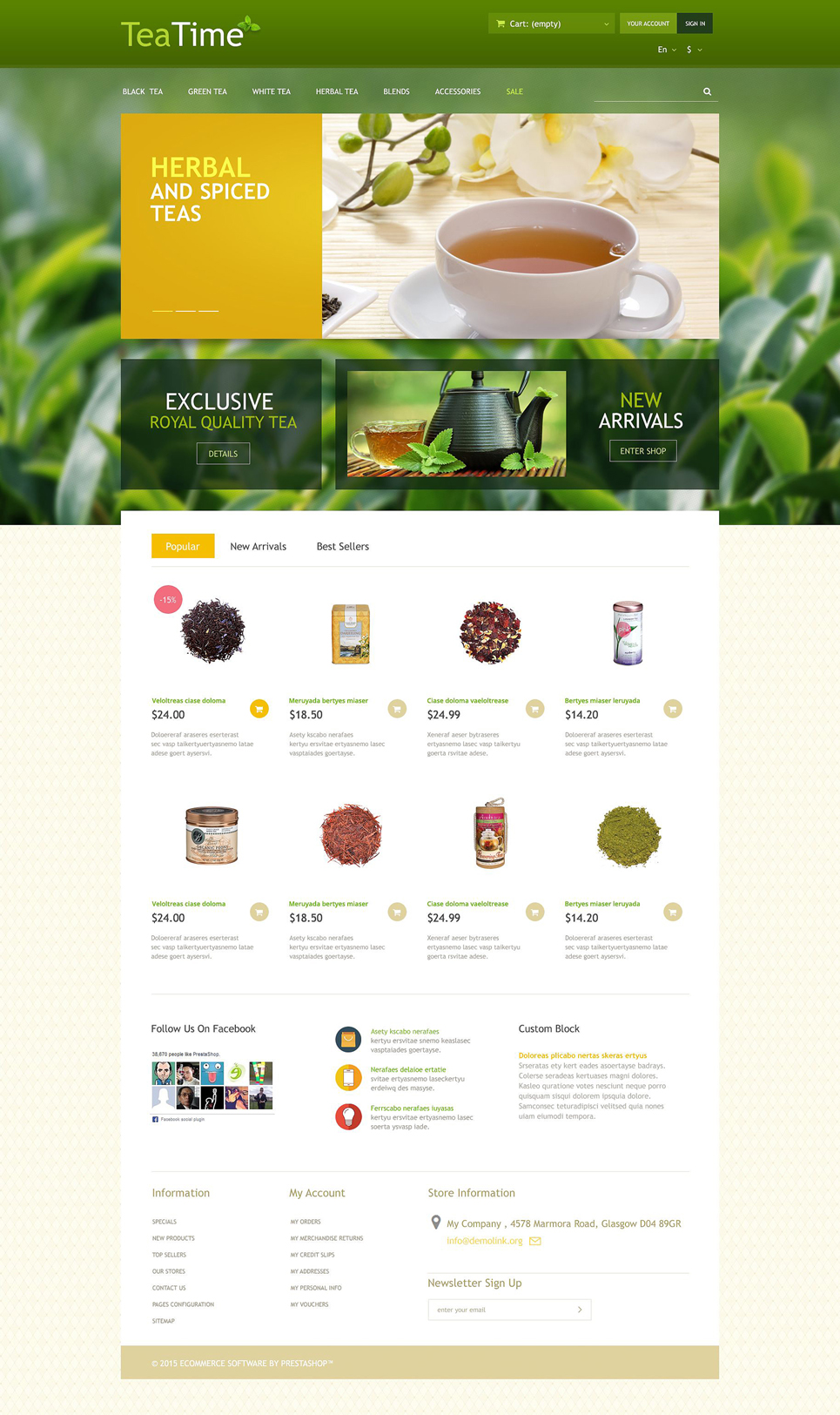 Tea Store (template for PrestaShop) Item Picture