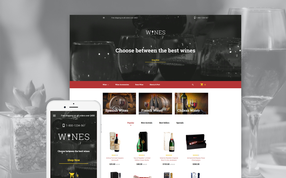 Wines (ecommerce PrestaShop template) Item Picture