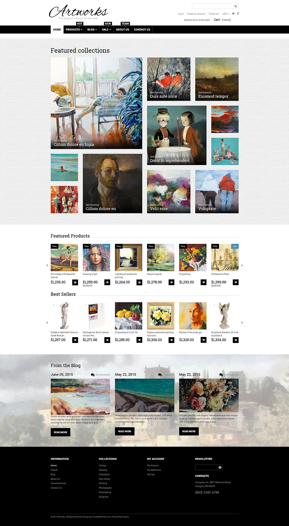 Stunningly Creative Custom Printing And Art Store Ecommerce Shopify