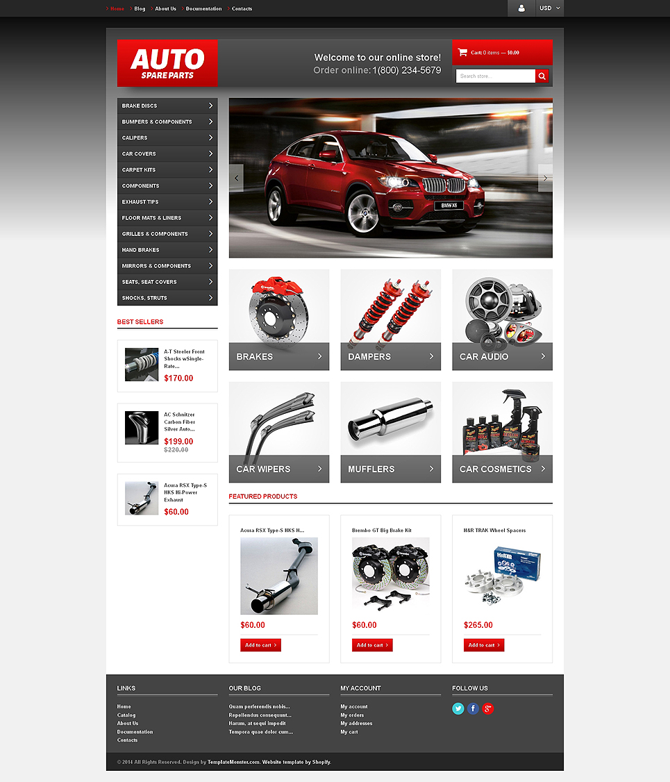 Autoparty (ecommerce Shopify theme) Item Picture