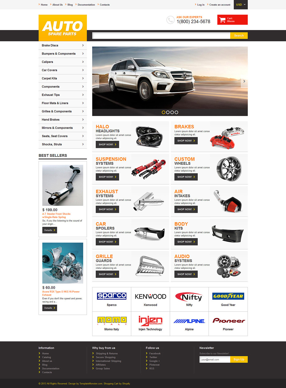 Auto Parts (ecommerce Shopify theme) Item Picture