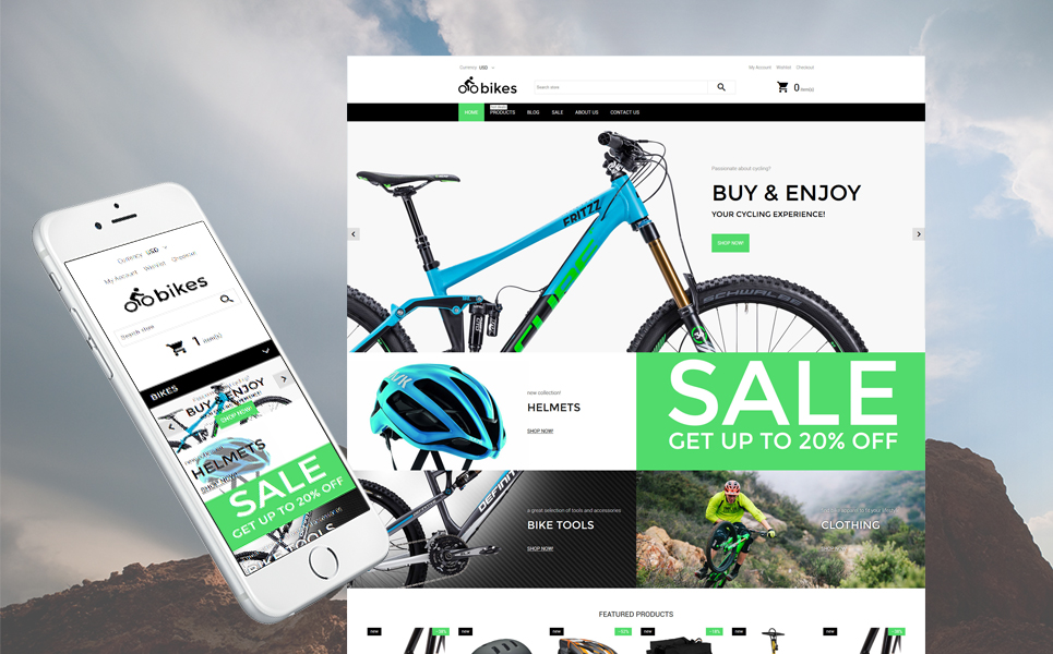 Bike Shop (theme for Shopify) Item Picture