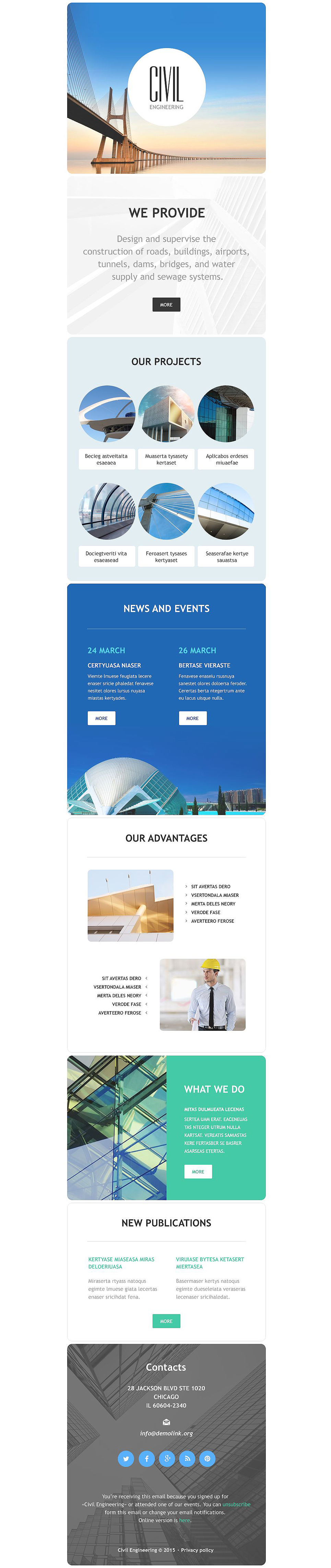 Civil Engineering (responsive newsletter theme) Item Picture