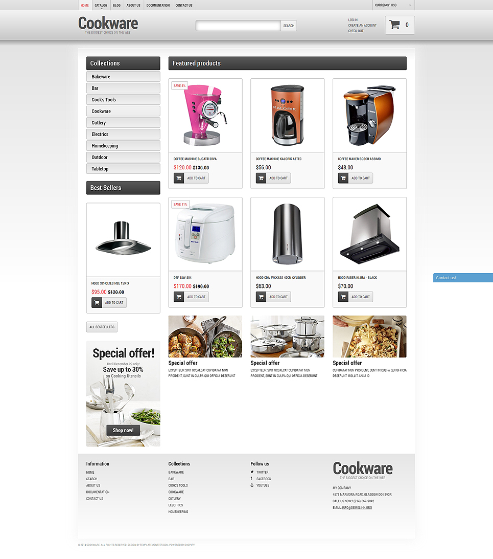 Cookware Store (ecommerce theme) Item Picture