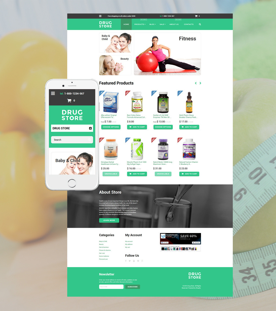 Drug store (website theme) Item Picture