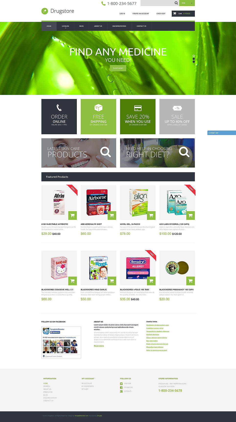 Drugstore (ecommerce website theme) Item Picture
