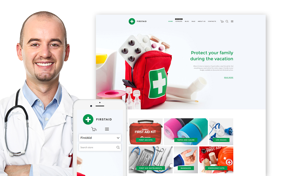 FirstAid (ecommerce website theme) Item Picture