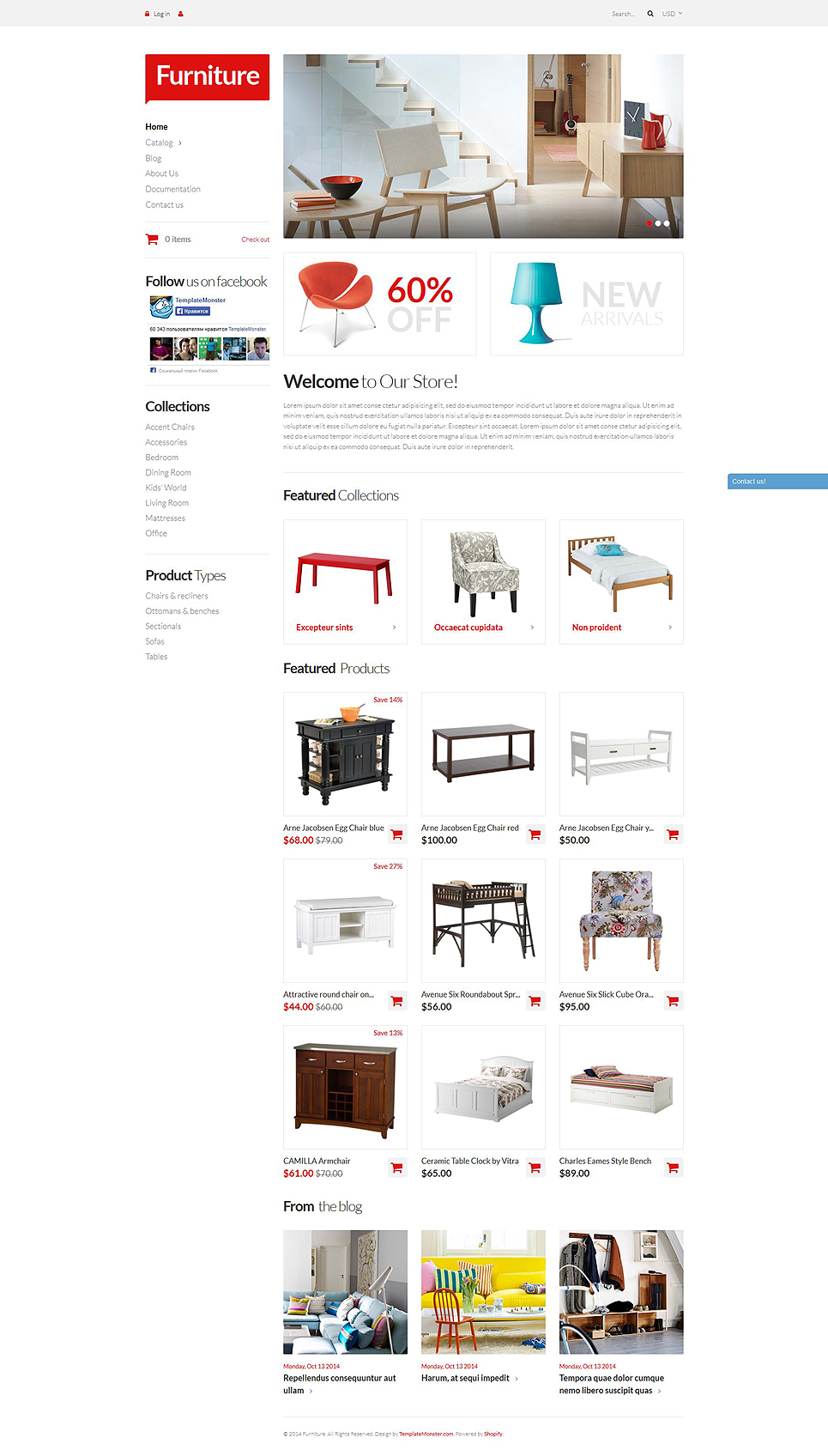 Furniture Pieces Store (Shopify theme) Item Picture