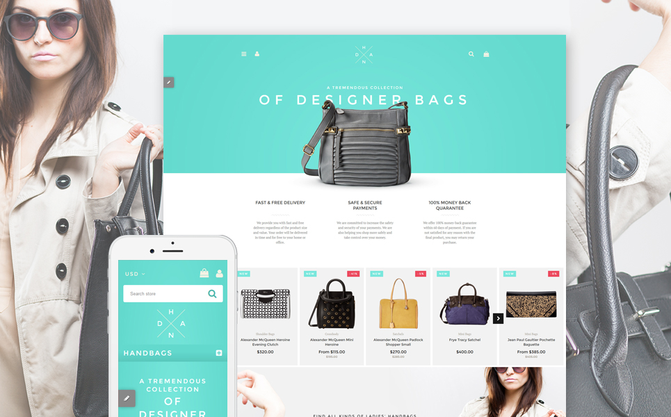 Handbag Boutique (theme for Shopify) Item Picture