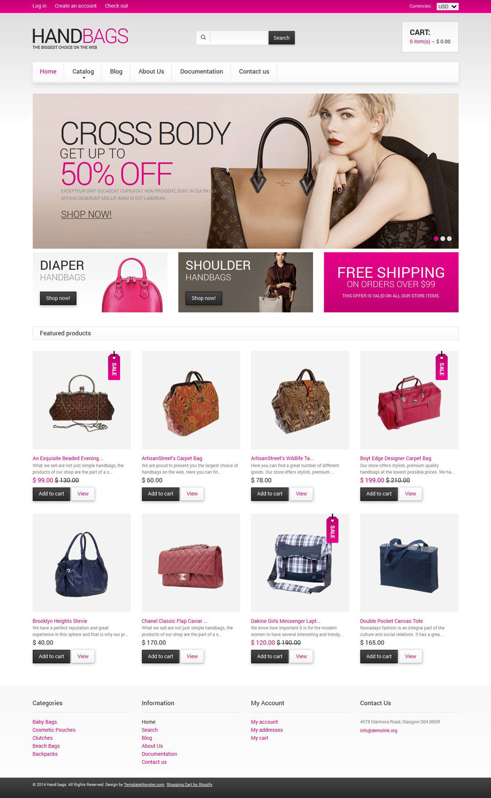 Handbag Shop (ecommerce Shopify theme) Item Picture