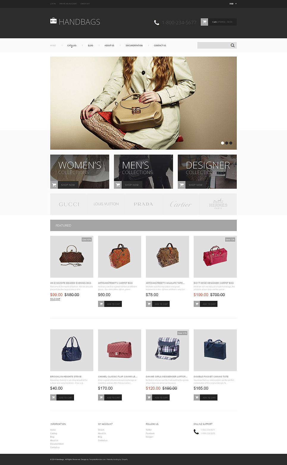 Handbag Store (Shopify theme for ecommerce sites) Item Picture