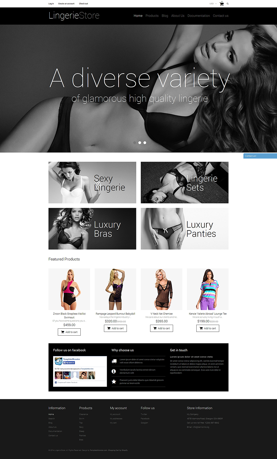 Lingerie Shop (theme for Shopify) Item Picture