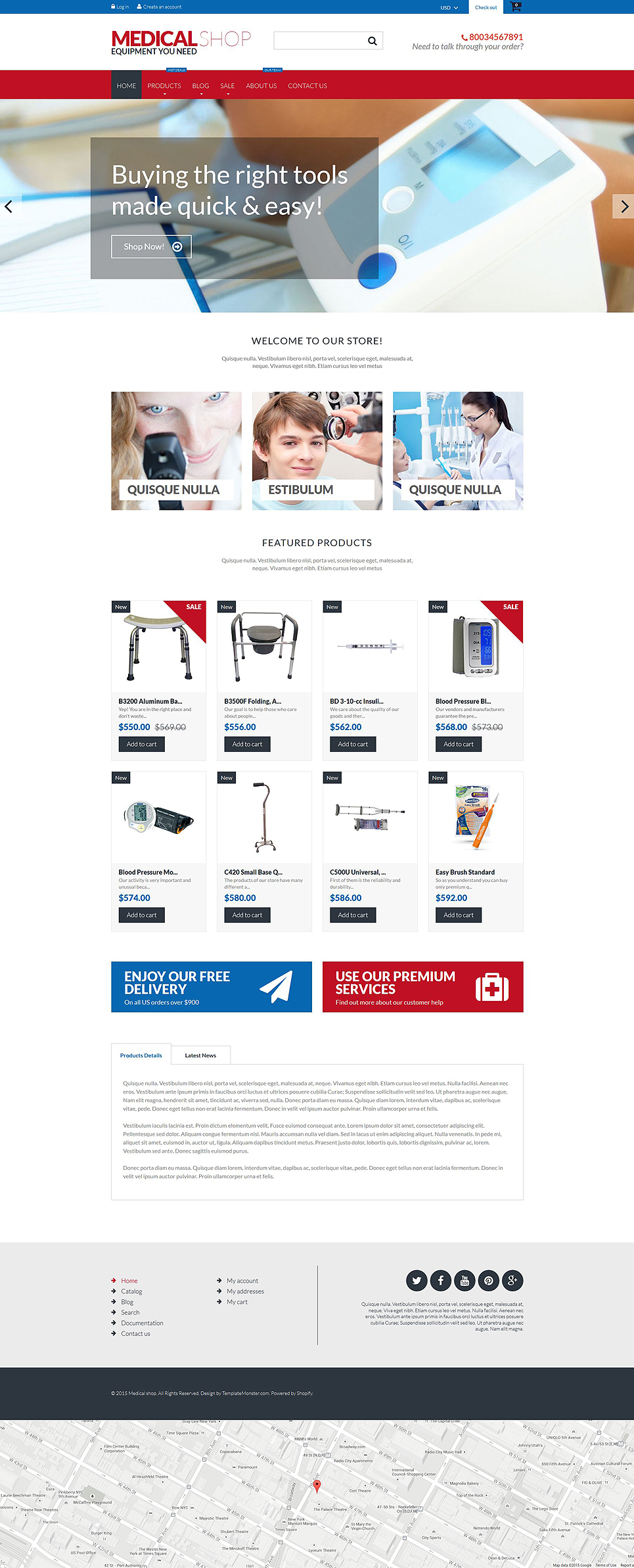 Medical Equipment (theme for Shopify) Item Picture