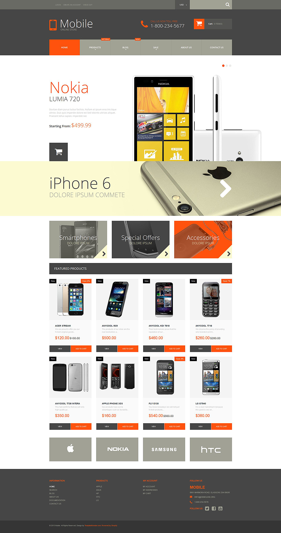 Mobile Phones Store (Shopify theme) Item Picture