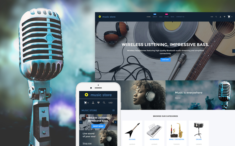Music Store (theme for Shopify) Item Picture