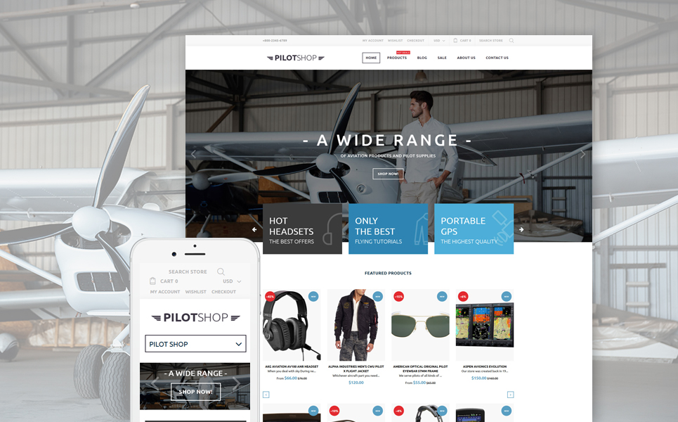 PilotShop (Shopify theme for ecommerce sites) Item Picture