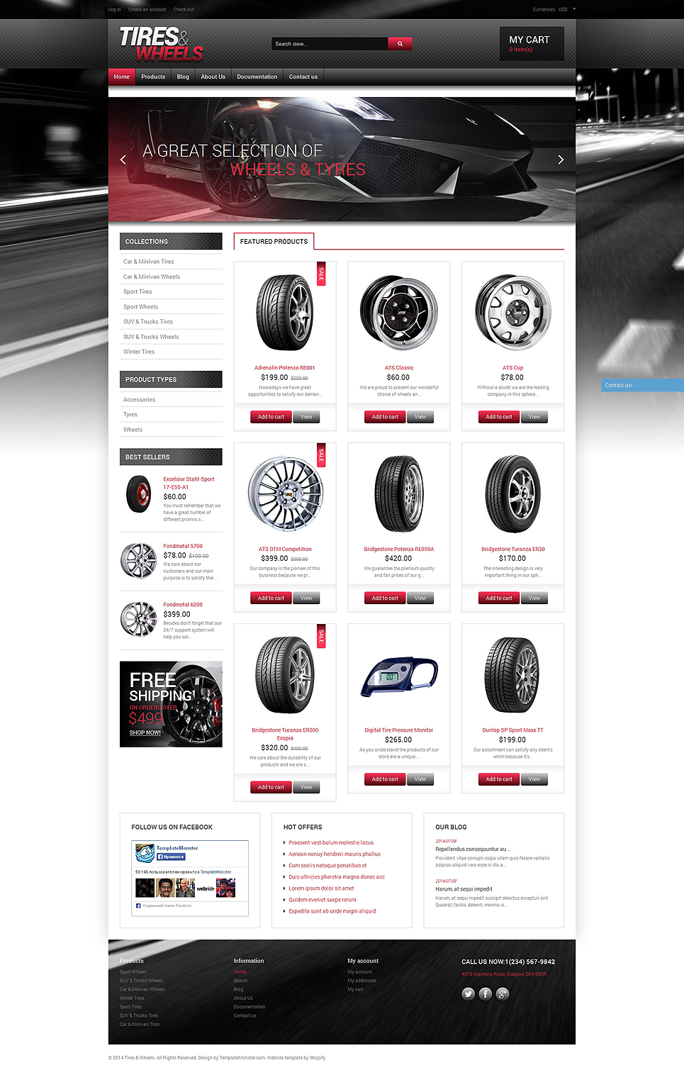 Quality Wheels and Tires (Shopify theme) Item Picture