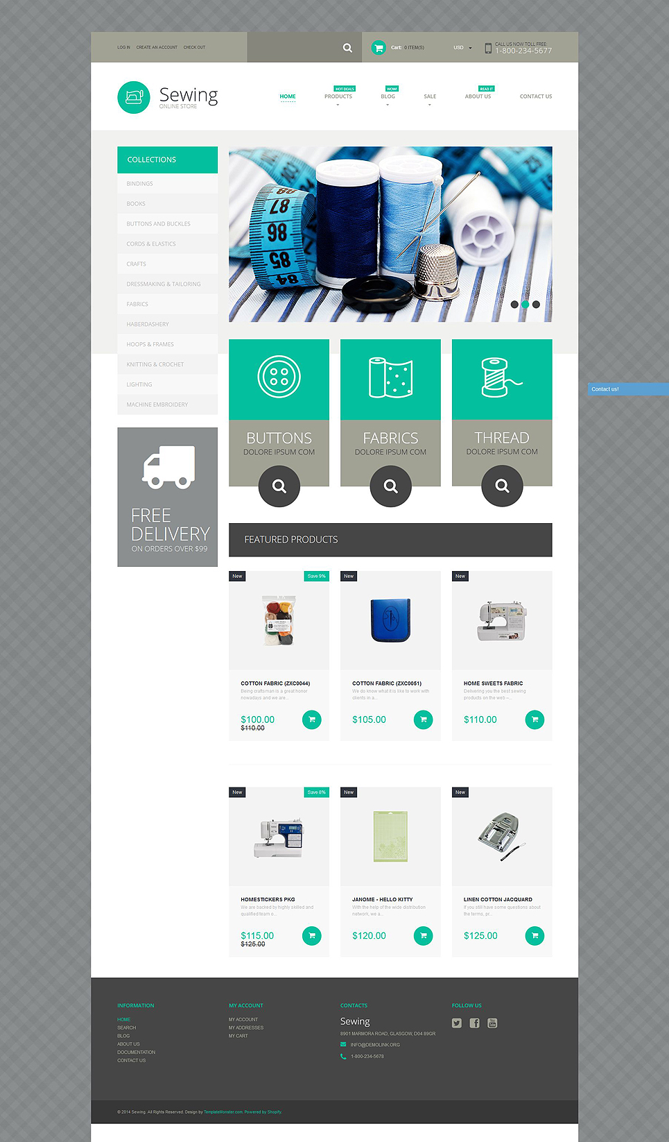 Sewing Supplies (ecommerce theme) Item Picture