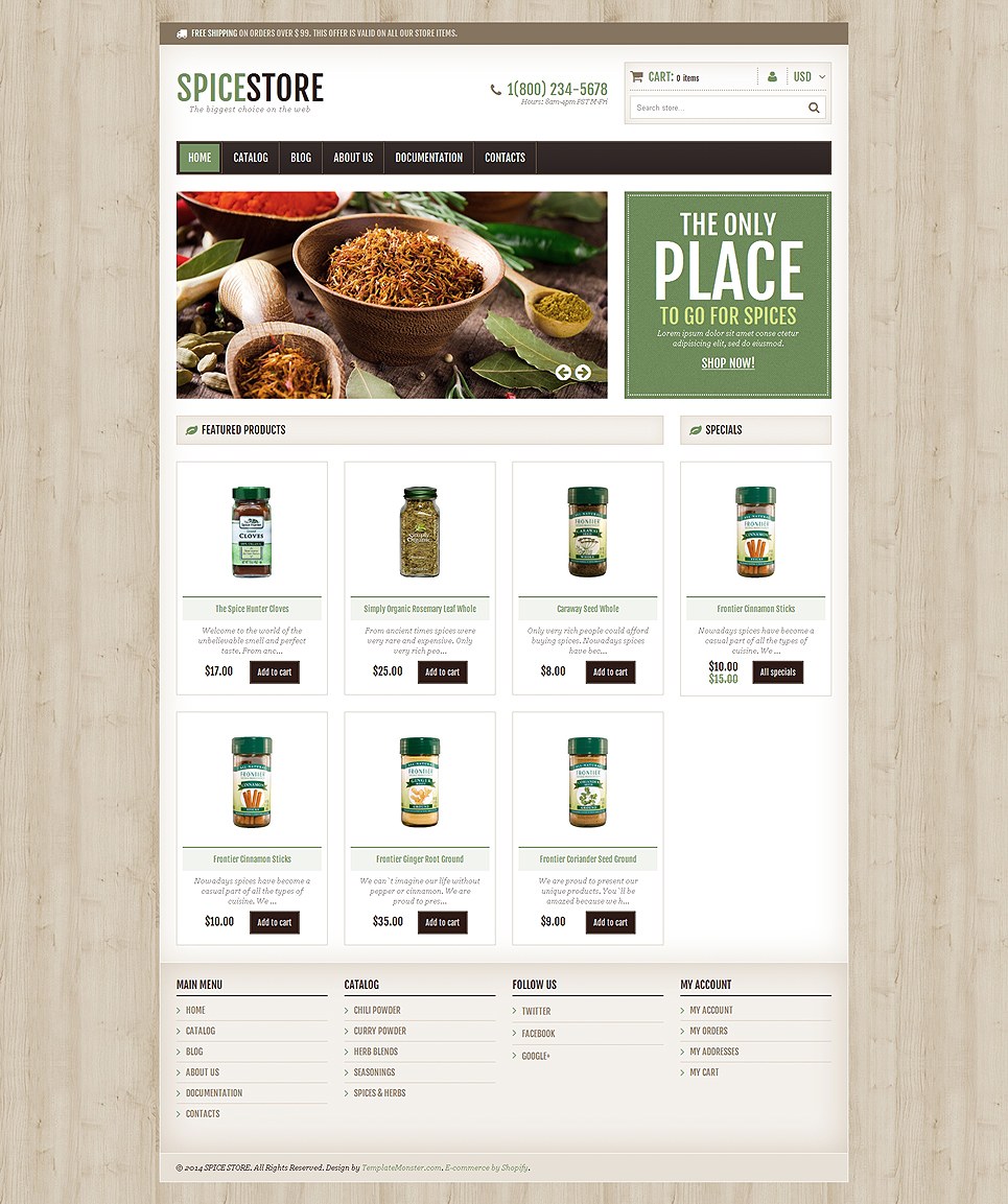 Spice Shop (ecommerce Shopify theme) Item Picture